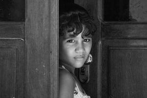 Earring on the door