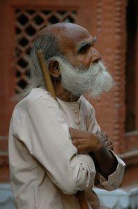Street sweeper in Varanasi