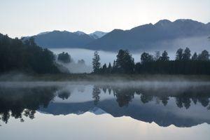Reflection in beautiful New Zealand