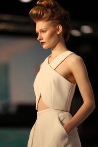 Beautiful model on the runway
