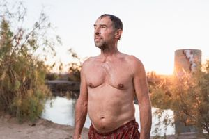 Steve at Slab City Hot Springs