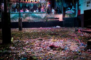 The expectations, the highs and lows, the sweat, money, drugs; it's all left here in the confetti wreckage. © Kate Vredevoogd