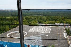Teufelsberg-Taking off and landing
