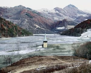 The Flooded Village of Geamana (Geamana, Central Romania), 2011. Showing at The Photographer Gallery's. Courtesy of PhotoLondon.