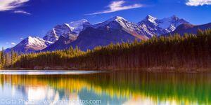 Herbert Lake - Temple & Fairview Mtns.
