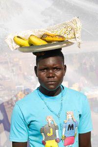 Laker  Brenda: Sells bananas for 300 ($0.09) shillings each.