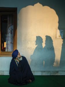 Trois Sikhs en conciliabules