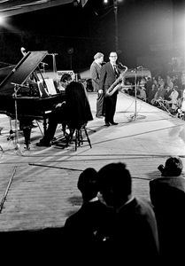 Al Cohen and Zoot Sims at the Belgian Jazz Festival, Bilzen, 1967