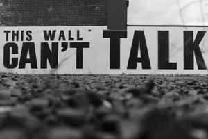 If only this wall could talk ...