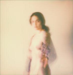 Untitled Polaroid Self Portrait With Scarf.