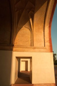 At Akbar's Tomb, Agra, India