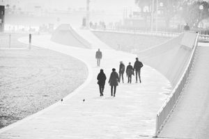 Seafront mist