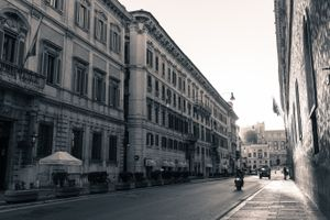 Early morning commuters in Rome