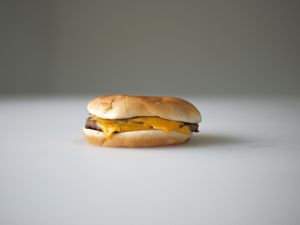 One dollar's worth of double-cheeseburger from McDonalds