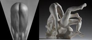 (left) George Bradshaw, 1980 © Robert Mapplethorpe Foundation. Used by permission. (right) Femmes damnees, avant 1890 © Paris, musee Rodin