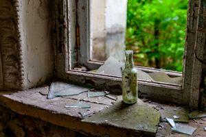 Chernobyl - Bottle in Window