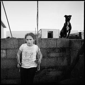 Christina and Pit Bull, Limerick, Ireland 2017