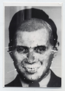 Richard Helmer. Richard Helmer's face/skull Mengele superimposition 1985 © Photo Richard Helmer. Courtesy Maja Helmer, 1985