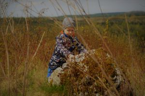 Photographic portrait of my son in Jura Krakowsko-Czestochowska