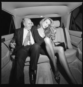 Jerry Hall and Clive James