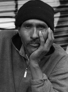 Portrait of a homeless man in San Francisco