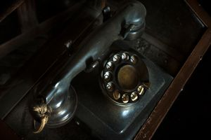 Phone with which General Moscardó spoke for the last time with his son from his office in the Alcazar of Toledo on July 23, 1936. Faced with his refusal to surrender, his son Luis was shot.