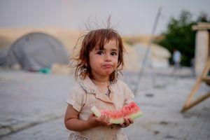 Rania in Batman yazidi refugee camp (Turkey)