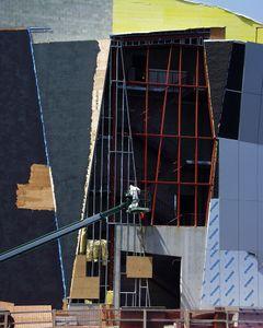 IMAX Theatre construction at the New England Aquarium, Boston, MA