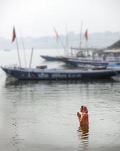 Prayer at Holy Ganges