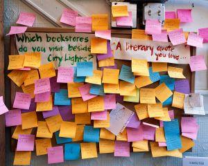 Bulletin Board, City Lights Bookstore, San Francisco