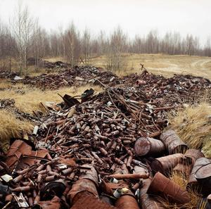 Germany East, Lieberose. Ammunition on a Russian shooting range.