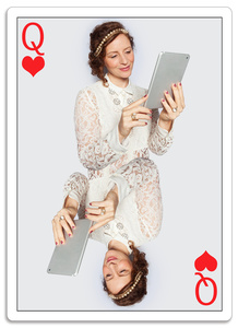 Planing Card - Queen of Hearts