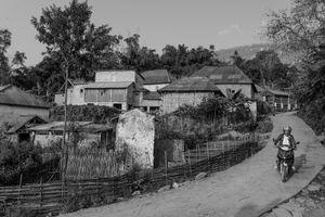 Motorbike and Village