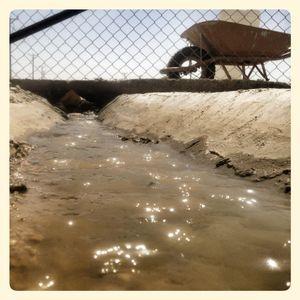Close up of water in Za'atari refugee camp