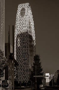 Sony Tower in sepia - Tokyo