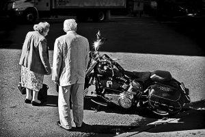 Senior Bike Admirers, New York City, 2008