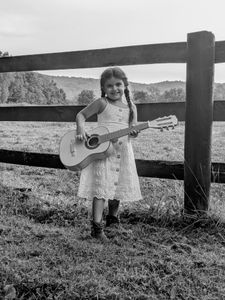 Girl and her guitar