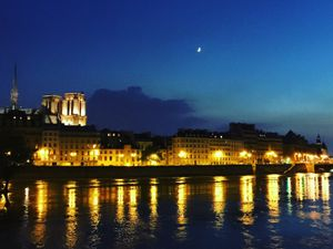 Paris lights and their reflection