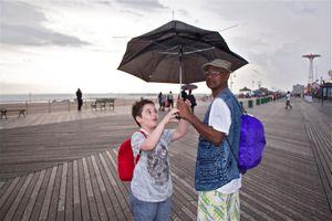 Rain in Coney Island© Monika Pia
