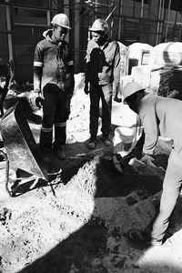 Prepping The Sand At Rosebank