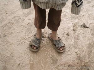 A rainy day at the Syrian Refugee Camp in Kawergosk, Kurdistan, Iraq.