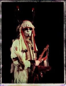 #11, Danish powwow dancer, Portrait taken at the local powwow convention, bleach Fuji Fp100c, negative scan, Copenhagen, Denmark 2015.