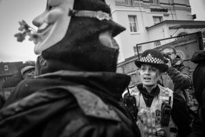 The Police are asked to get involved as it is noticed that the warrant was not signed by the judge and therefore illegal.