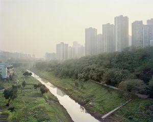 Les petites rives et le maraichage. District de Banan, Chongqing. Chine, Décembre 2017.