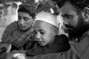 "Hekmatullah's uncle Haji Baran Akhon (aka Mullah Barraan) has taken in his brother's family since the shooting. From the series ""Silent Night"" © Lela Ahmadzai"