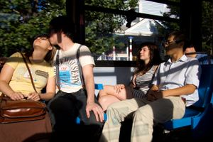 Untitled (kiss on the 66) 2011
