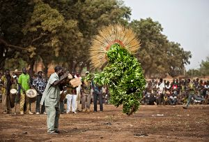 Dédougou, Burkina Faso: In February the otherwise sleepy and dusty town changes into a large funfair and an Eden for ethnologists during the international mask festival. © Matjaz Krivic