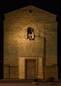 Girl in Church Window Florence