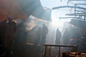 In the souk. The butchers' corner