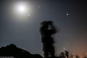 Soldier keeps watch in Shyrokyne